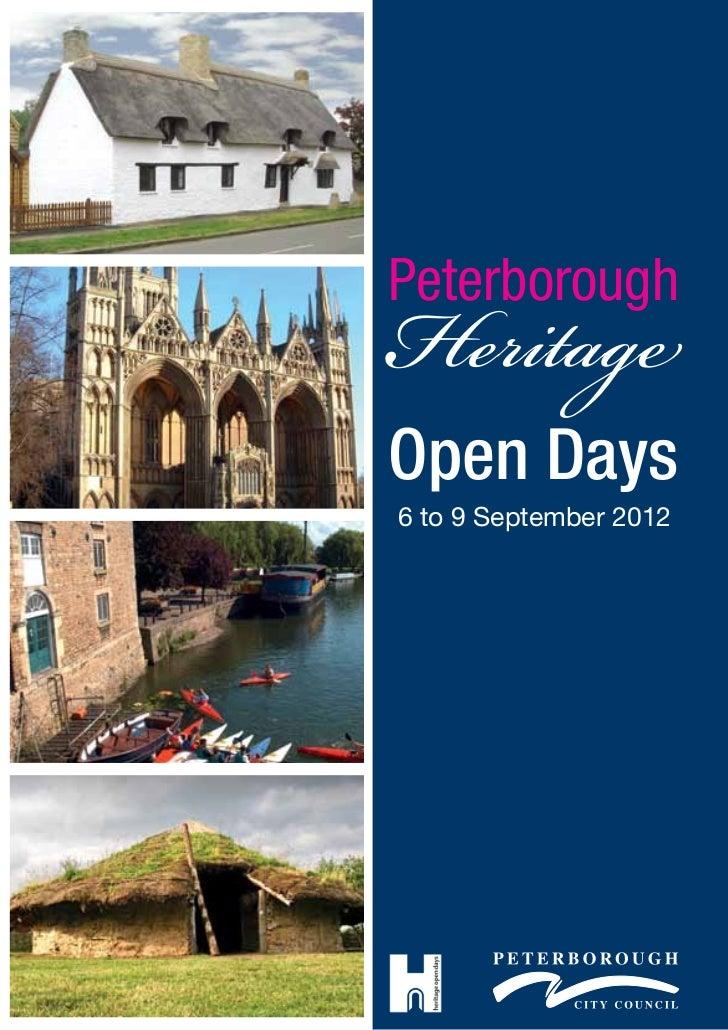 HeritagePeterboroughOpen Days6 to 9 September 2012