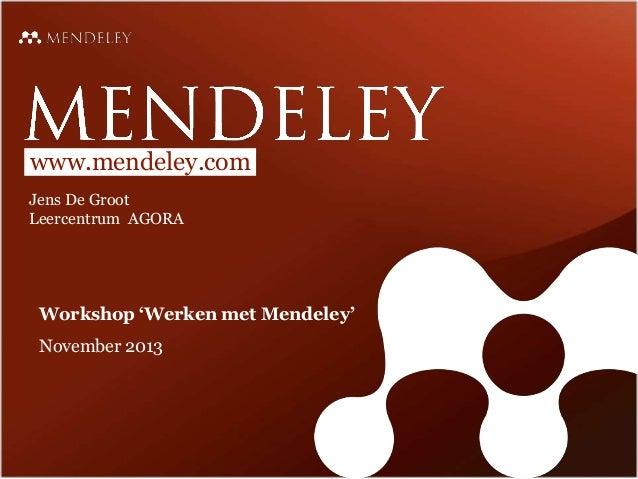 Hoe maak ik een goede bibliografie met Mendeley?