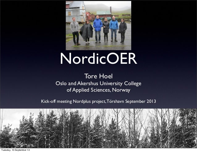 NordicOER - creating a network on Open Education in the Nordic countries