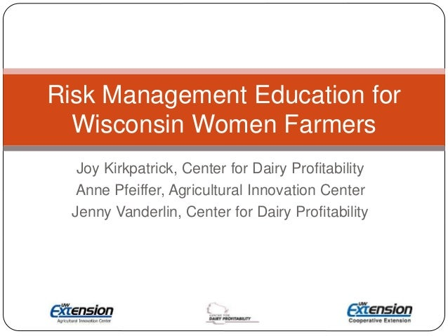 Risk Management Education for Wisconsin's Women Farmers