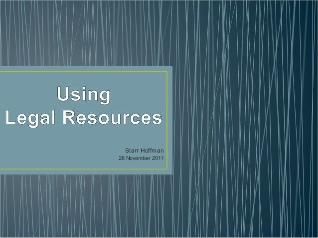 Legal Resources for Academic Librarians