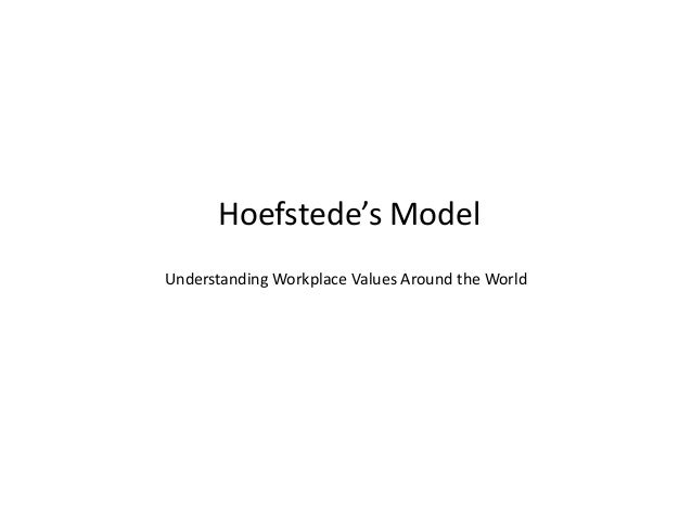 Hoefstede's Model Understanding Workplace Values Around the World