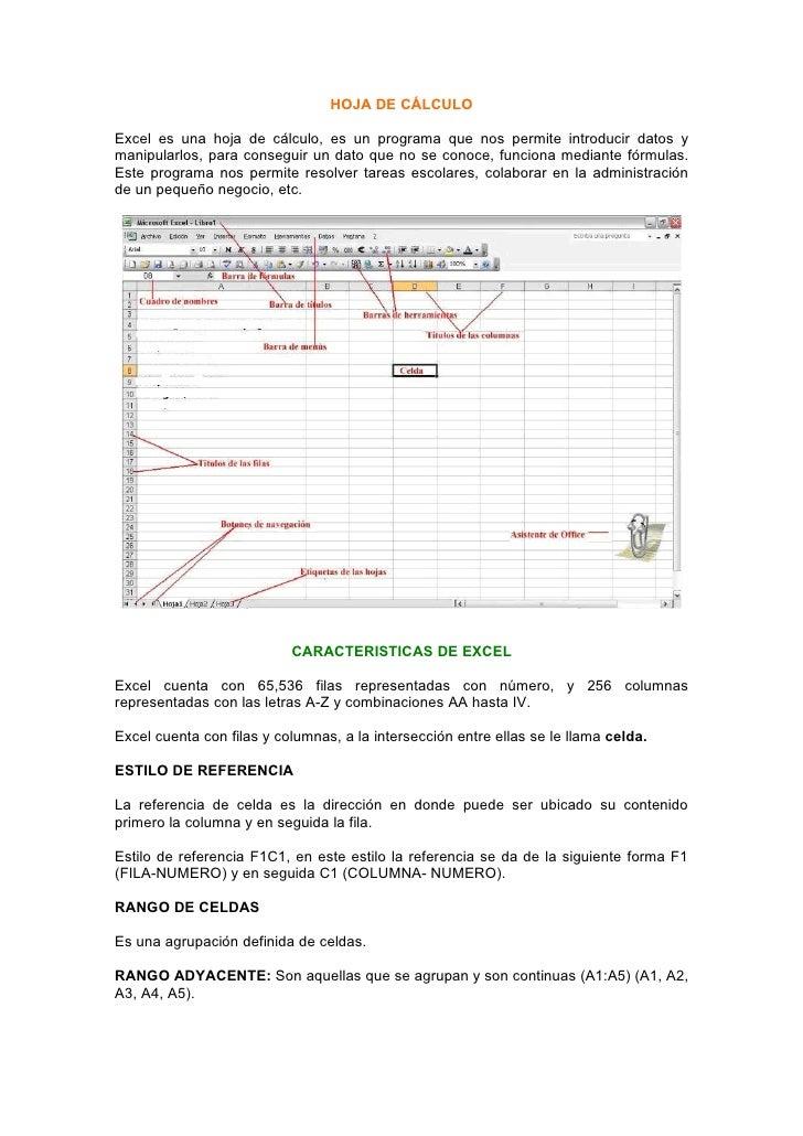 HOJA DE CÁLCULO  Excel es una hoja de cálculo, es un programa que nos permite introducir datos y manipularlos, para conseg...
