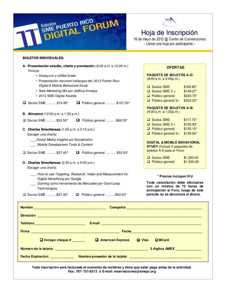 Hoja de Inscripción                                                                       16 de mayo de 2012 @ Centro de C...
