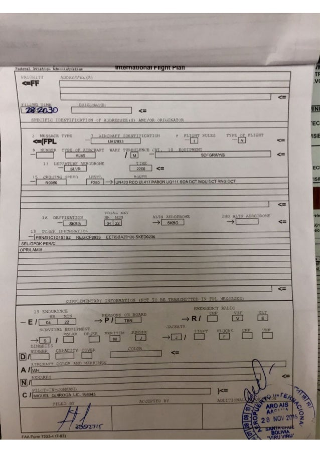 [Internacional] Aviao com equipe da Chapecoense, caiu proximo ao aeroporto de Medellin - Página 2 Informe-de-aasana-y-foto-de-la-hoja-de-ruta-de-lamia-1-638