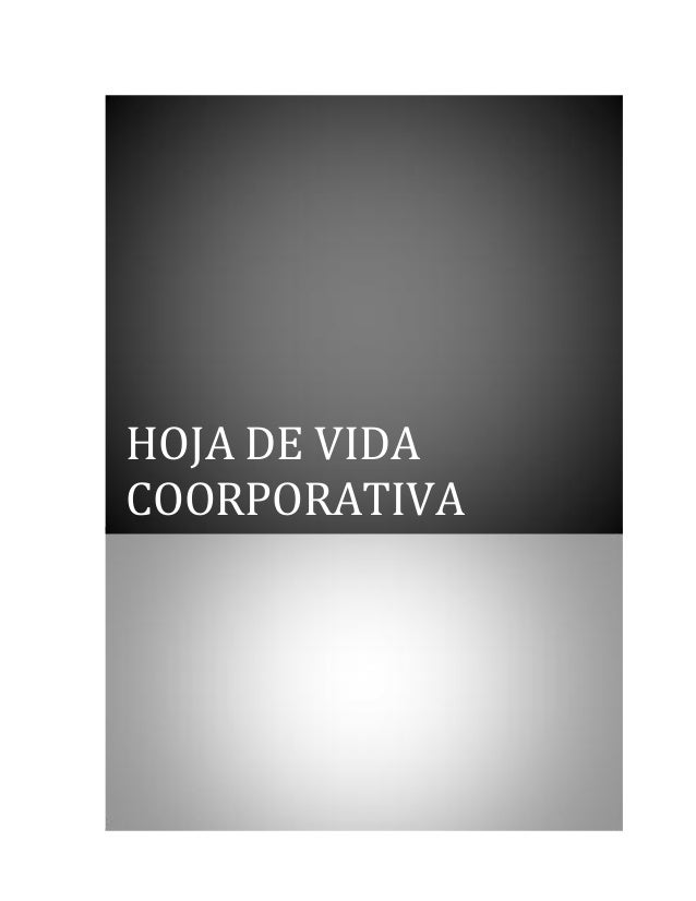 HOJA DE VIDA COORPORATIVA