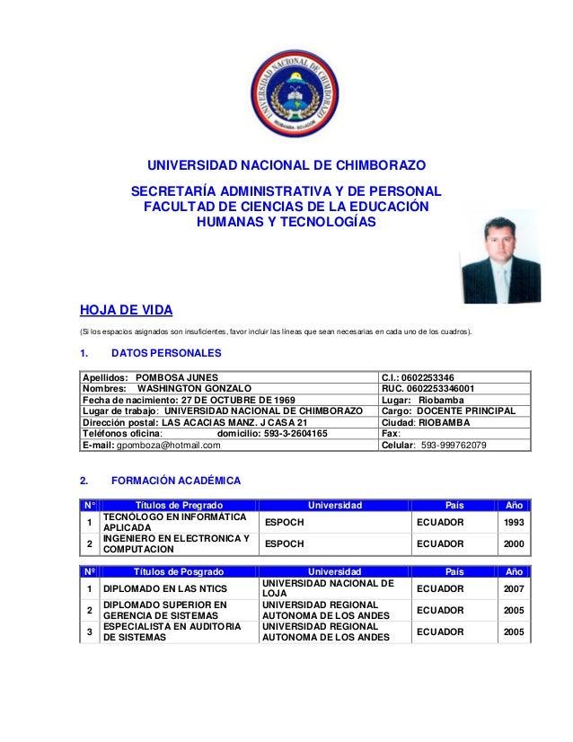 UNIVERSIDAD NACIONAL DE CHIMBORAZOSECRETARÍA ADMINISTRATIVA Y DE PERSONALFACULTAD DE CIENCIAS DE LA EDUCACIÓNHUMANAS Y TEC...