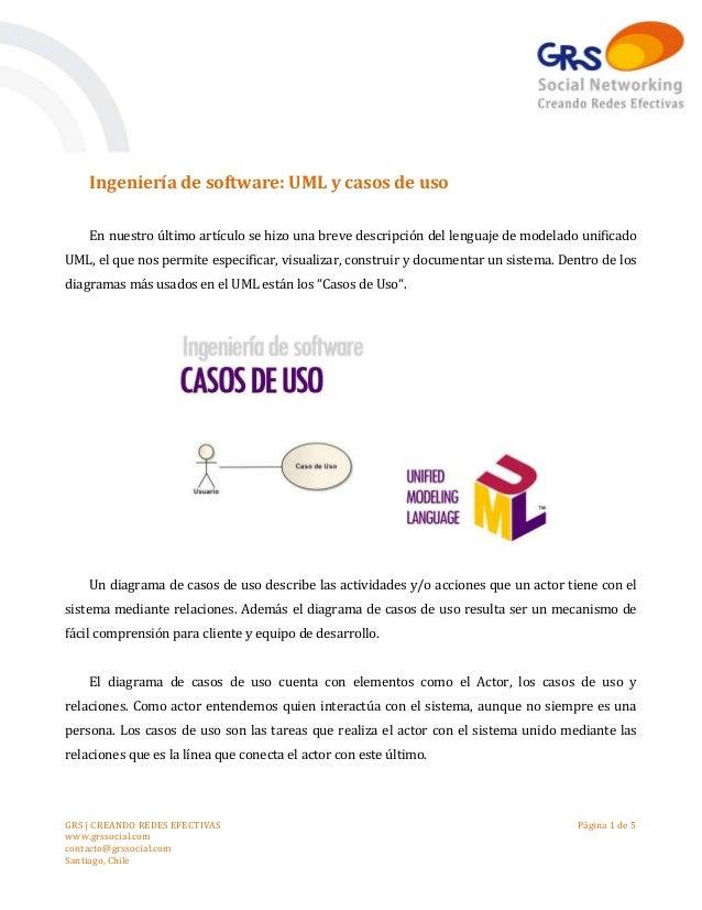 GRS   CREANDO REDES EFECTIVAS www.grssocial.com contacto@grssocial.com Santiago, Chile Página 1 de 5 Ingeniería de softwar...