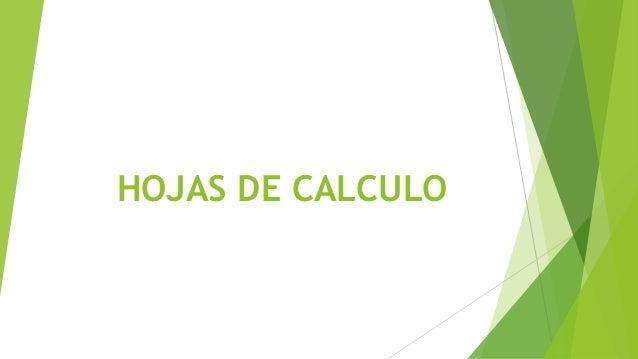 HOJAS DE CALCULO