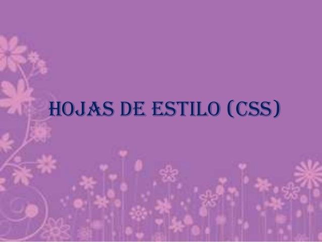 HOJAS DE ESTILO (CSS)