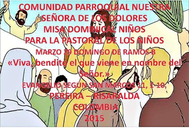 HOJITA EVANGELIO DOMINGO DE RAMOS B  COLOR