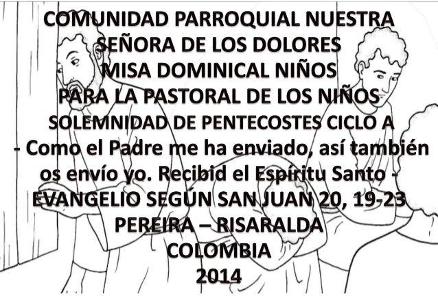 HOJITA EVANGELIO  SOLELMNIDAD DE PENTECOSTES CICLO A BN
