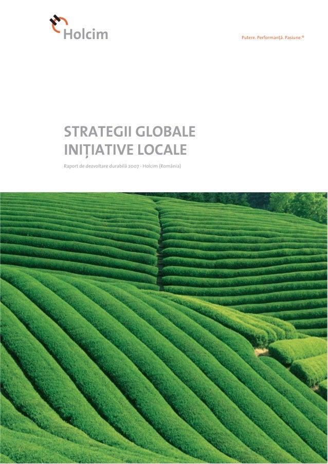 Raport de CSR al Holcim Romania 2007
