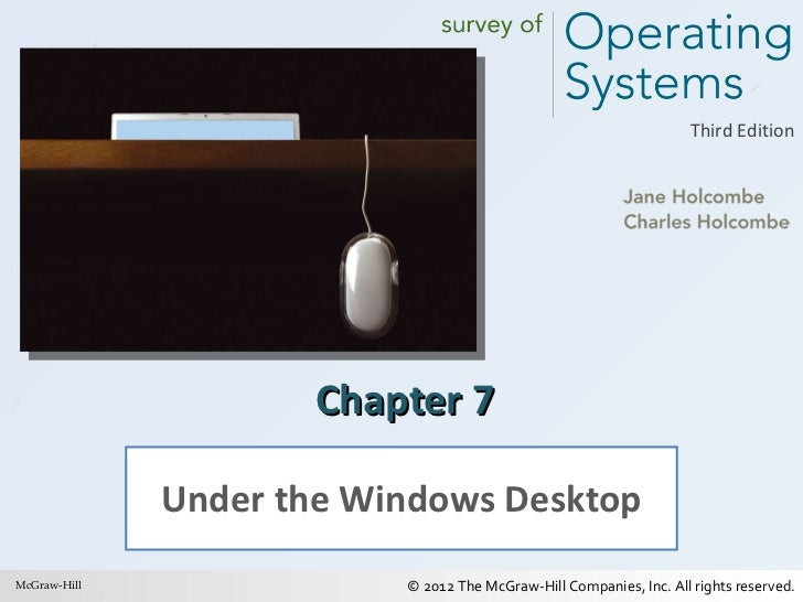 Chapter 7 Under the Windows Desktop McGraw-Hill