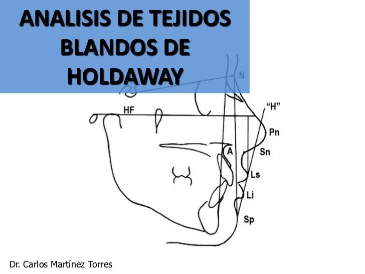 ANALISIS DE TEJIDOS     BLANDOS DE      HOLDAWAYDr. Carlos Martínez Torres