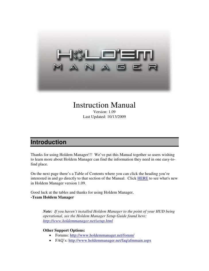 Instruction Manual                                     Version: 1.09                               Last Updated: 10/13/200...