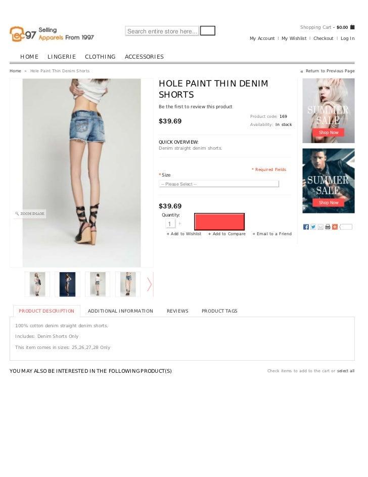 Hole Paint Thin Denim Shorts