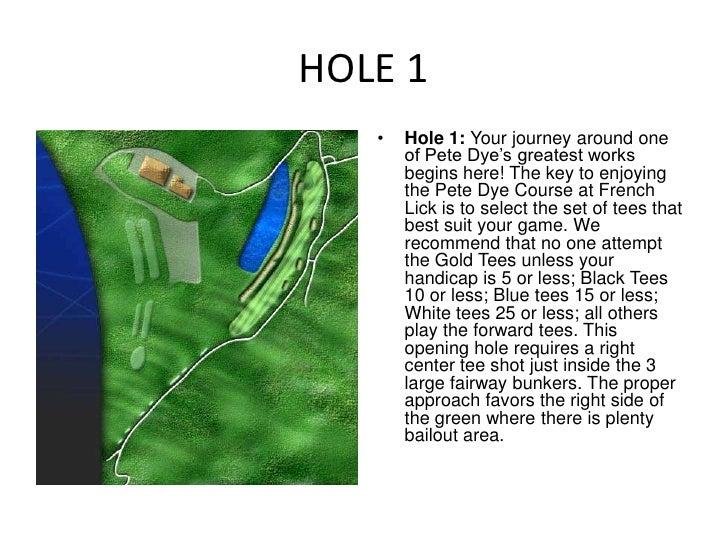 Pete Dye Hole by Hole Description