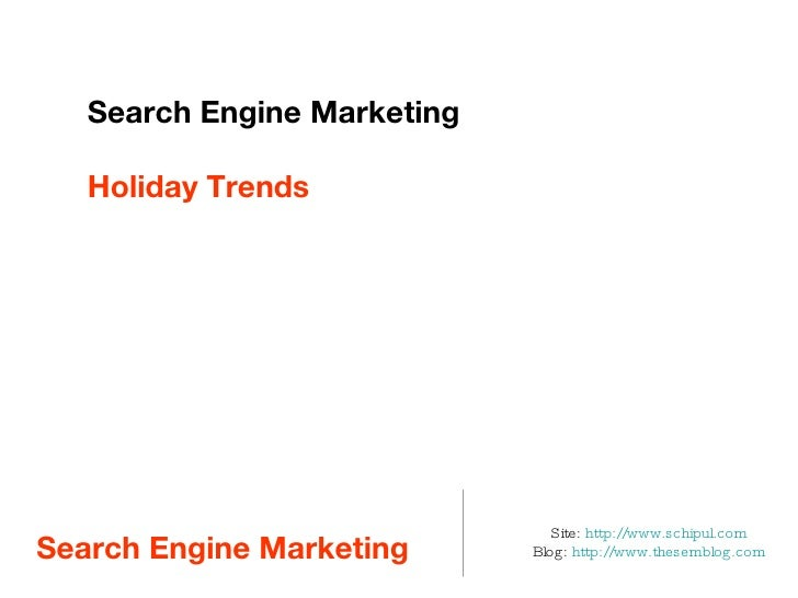 Holiday Marketing Planning with SEM
