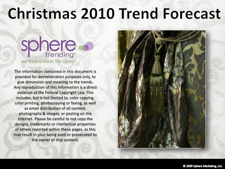 Holiday 2010 trend forecast sample