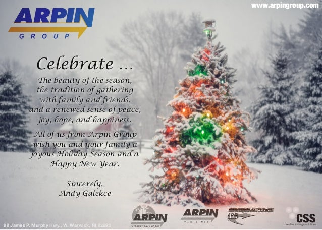 www.arpingroup.com             Celebrate …            The beauty of the season,            the tradition of gathering     ...