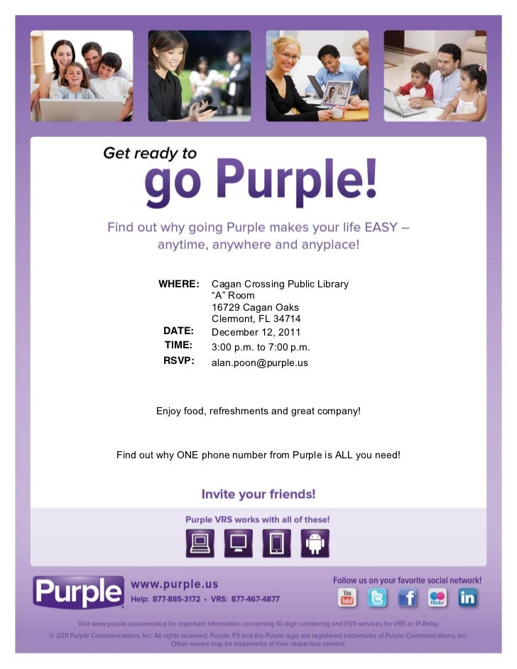 Clermont, FL - Get ready to go Purple!