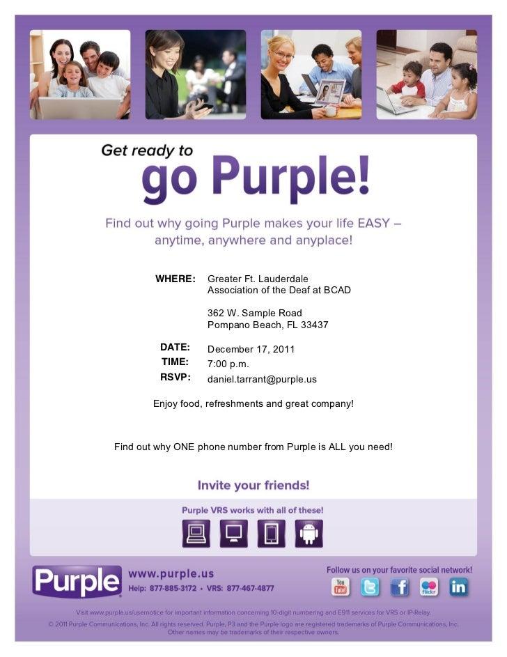 Pompano Beach, FL - Get ready to go Purple!
