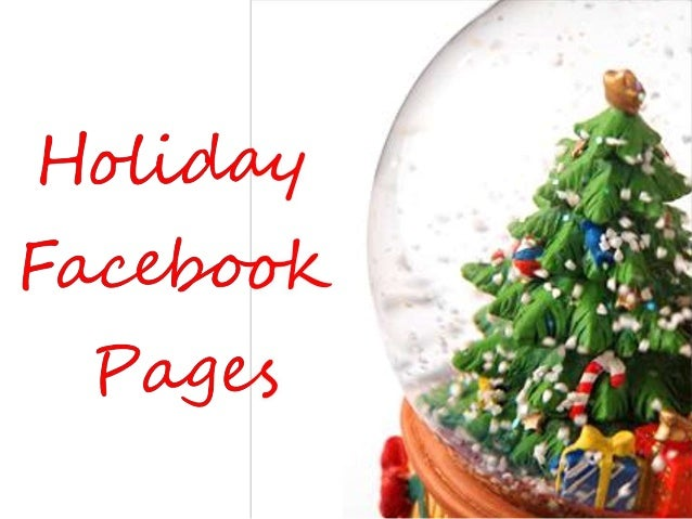 Holiday facebook pages