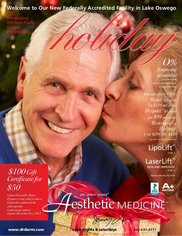 holiday  Welcome to Our New Federally Accredited Facility in Lake Oswego Introducing the New Plastic Surgery Department pa...