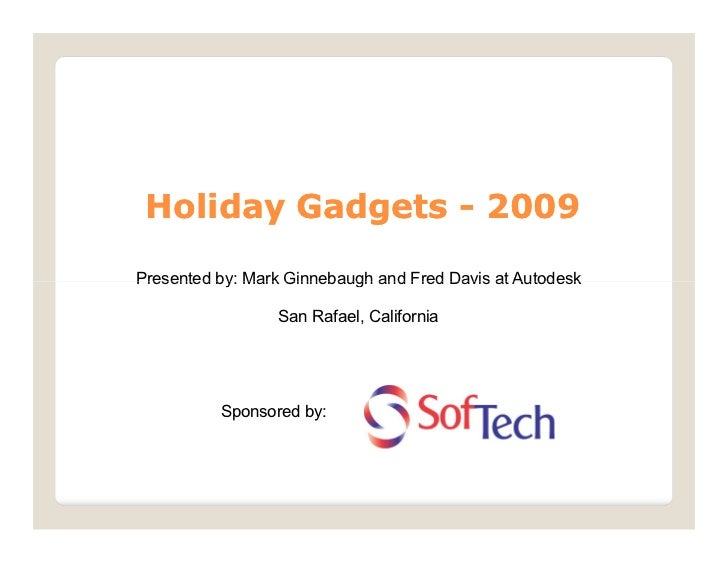 Holiday Gadgets 2009
