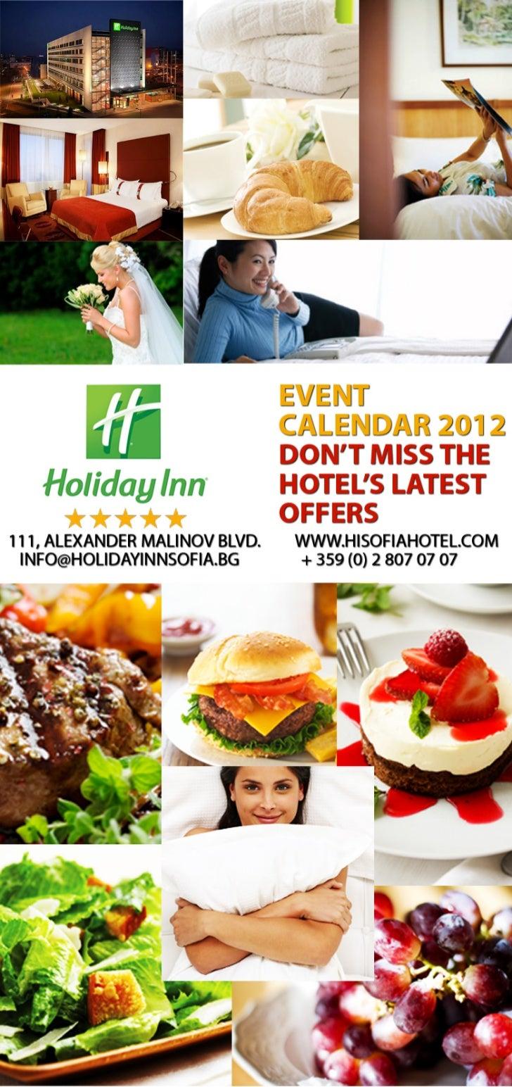 Holiday Inn Sofia - Events Calendar 2012