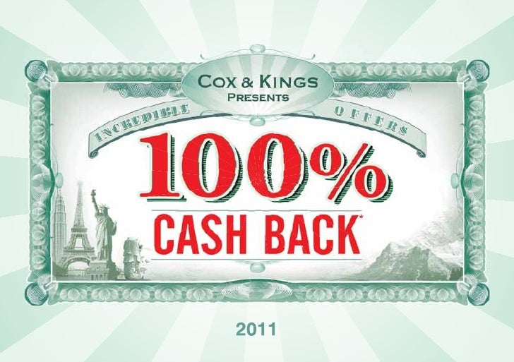 Holiday Offer 100% Cash Back by Cox & Kings