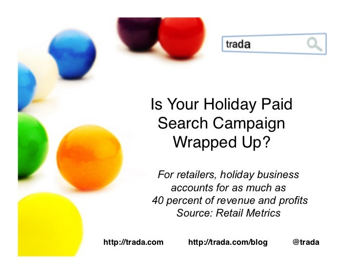 Is Your Holiday Paid              Search Campaign                 Wrapped Up?!              For retailers, holiday busines...