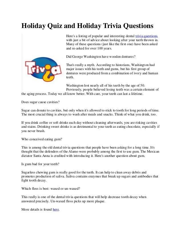 Good Trivia Questions For Kids
