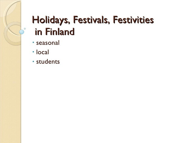 Holidays And Festivals In Finland