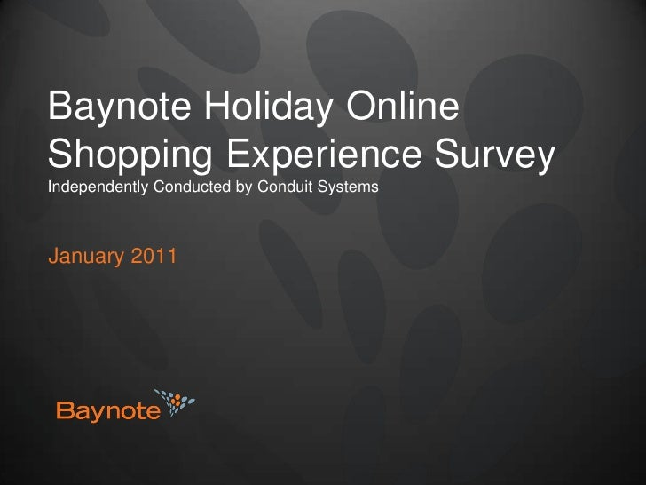 Baynote Holiday Online Shopping Experience Survey