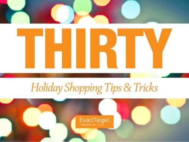 30 Holiday Shopping Tips