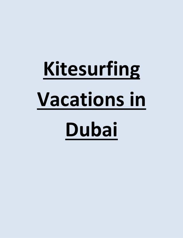 KitesurfingVacations in   Dubai