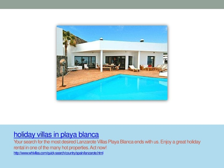 Holiday villas in playa blanca