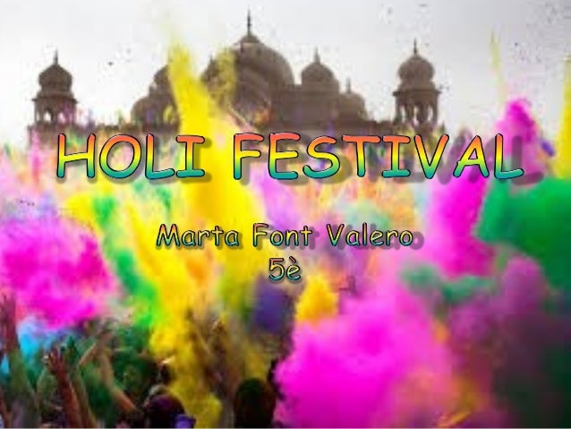 Holi festival treball