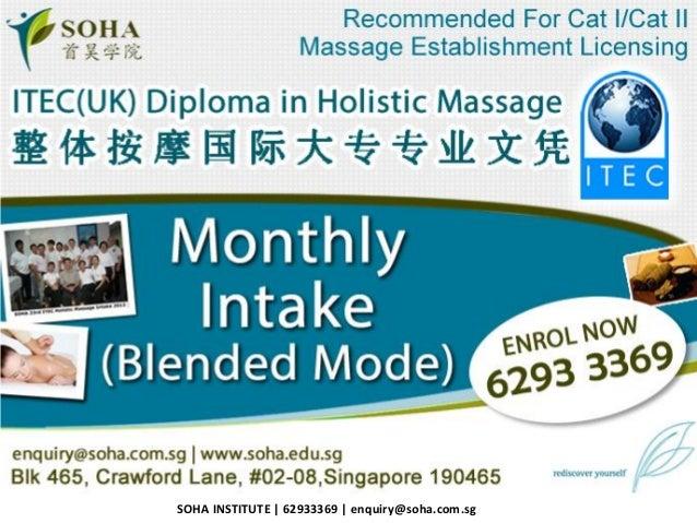 SOHA INSTITUTE   62933369   enquiry@soha.com.sg