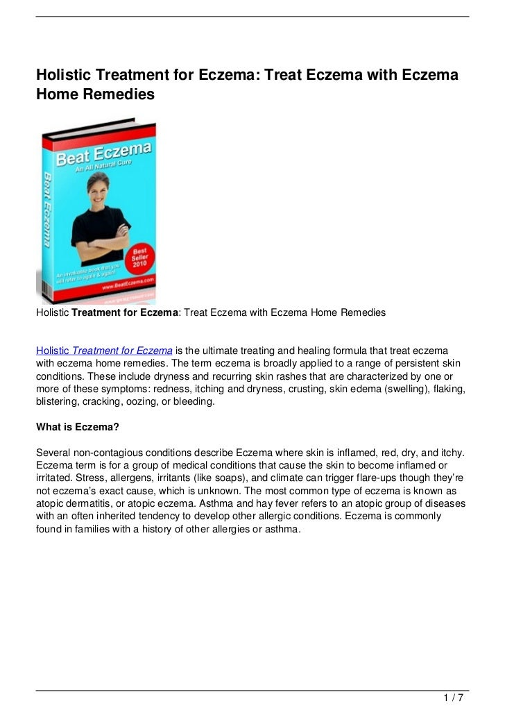 Holistic Treatment for Eczema: Treat Eczema with Eczema Home Remedies