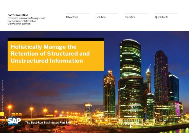 SAP Technical Brief                                                                  Enterprise Information Management   O...
