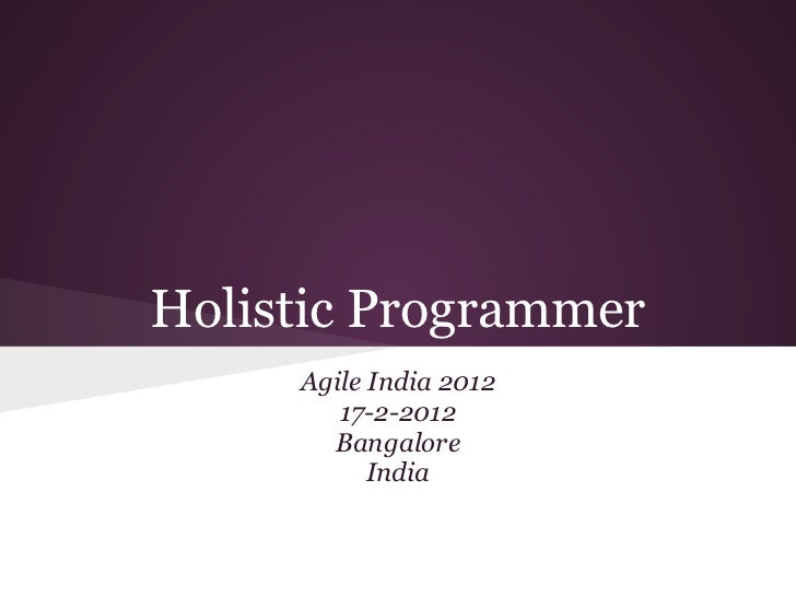 The Holistic Programmer