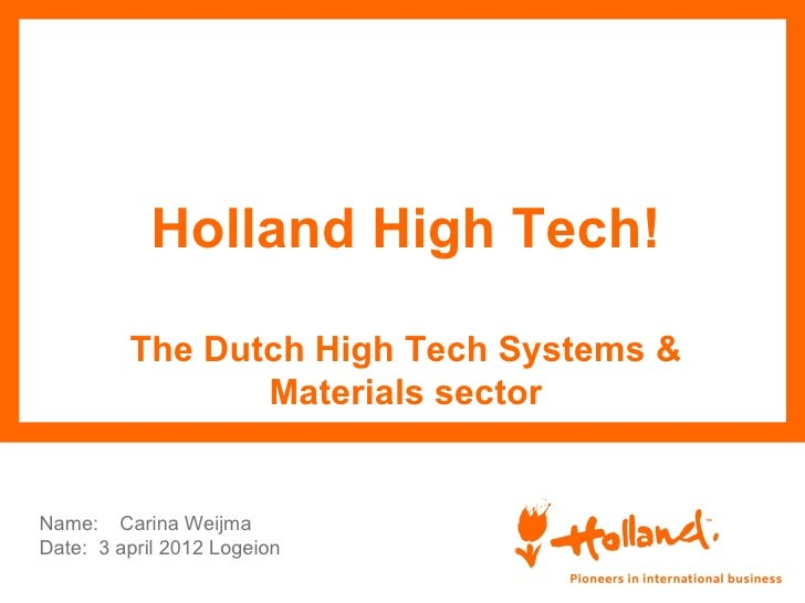 Holland high tech presentatie logeion carina