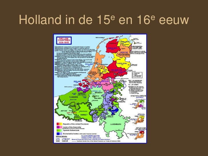 Holland in de 15e en 16e eeuw<br />
