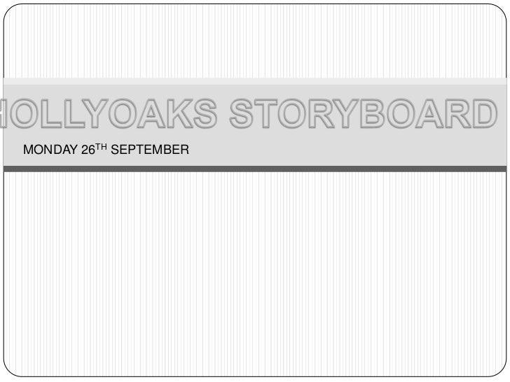 Hollyoaks story board