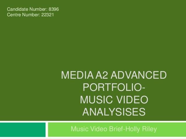 media music video coursework