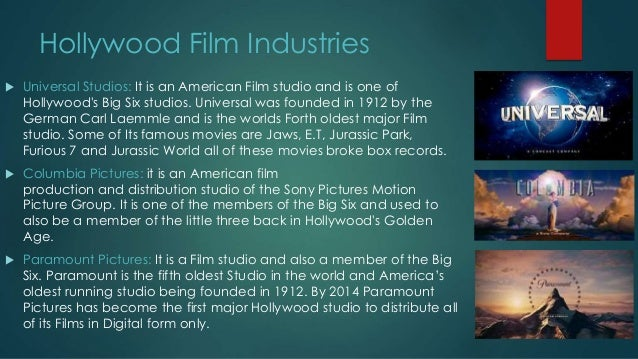 the hollywood film industry Cape town film studios opened its doors in 2010 and is fast becoming a big player in the film industry film studio is taking on hollywood (cnn.