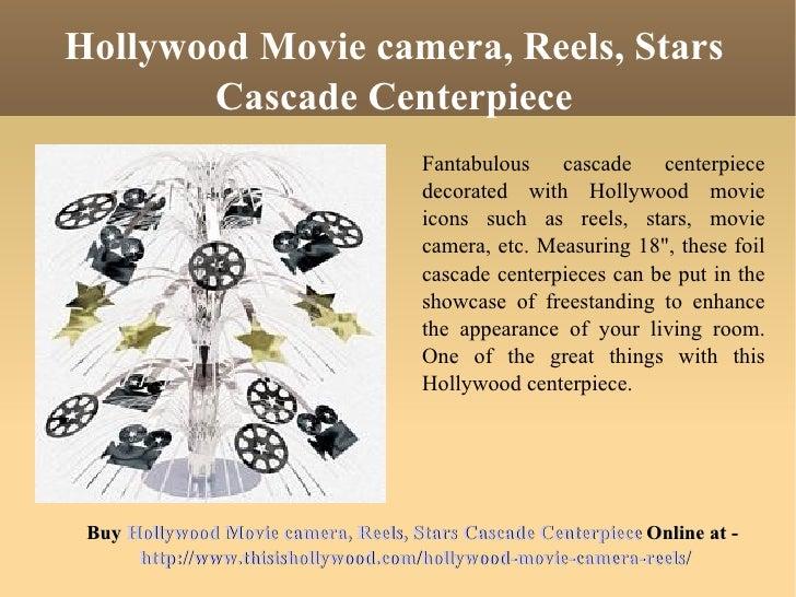 Movie Reel Centerpieces Hollywood Movie Camera Reels